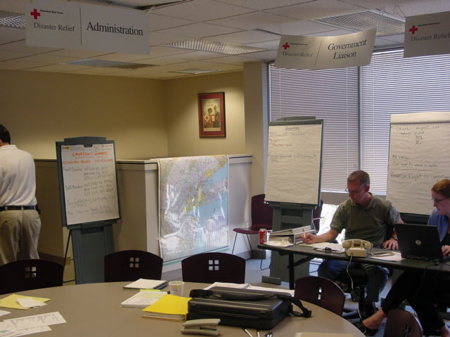 SEPA HQ was abuzz with activity manning phones and tracking evacuations.