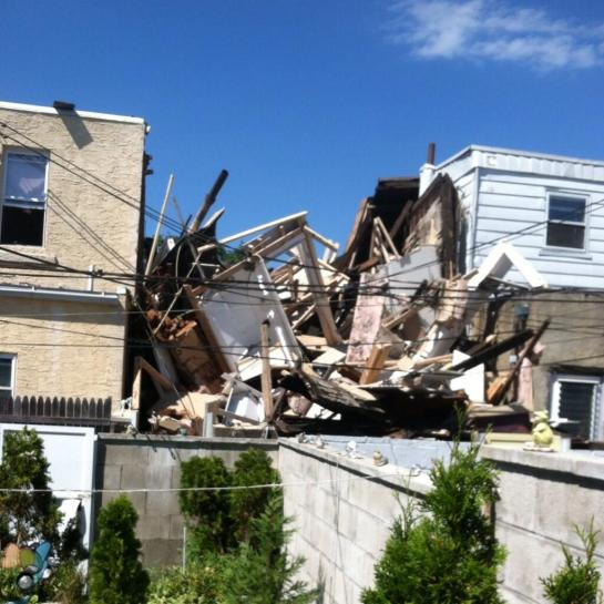 Back of Collapsed house