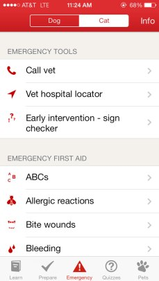 emergency pet app info